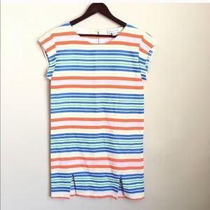 Amour Vert Dale Striped Silk Dress